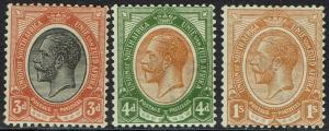 SOUTH AFRICA 1913 KGV 3D 4D AND 1/-