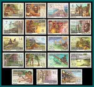 Papua New Guinea 1973 Panoramas, MNH #369-388,SG241-SG249