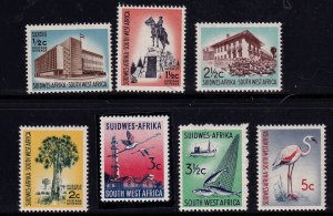 South West Africa SWA 1962-73 -  Various Scenes unwatermarked MLH set # 281-287