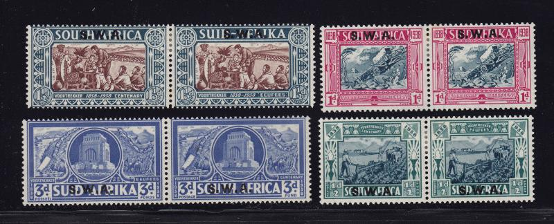 SW Africa Scott # B5 - B8 set VF previous hinged nice color cv $ 125 ! see pic !