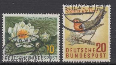 Germany  1957 Protection of wild nature Mi## 274/275 (1647)