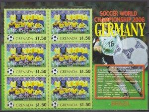 2006 Grenada 5726KL 2006 FIFA World Cup Germany( Brazil ) 9,00 €