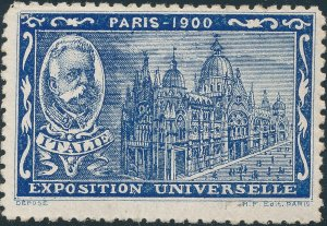 Stamp Label France Exposition 1900 Exposition Universelle Paris Cinderella MNH