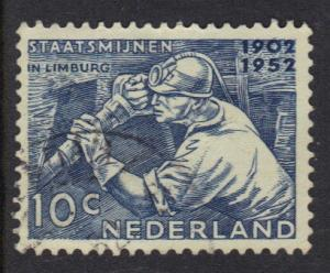 Netherlands 1952  used  mineworker  complete