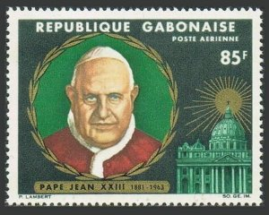 Gabon C40,MNH.Michel 234. In memory of Pope John XXIII, 1965.St Peter Cathedral.