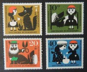 Germany 1960 fairy tales myths red riding hood children 4v MNH