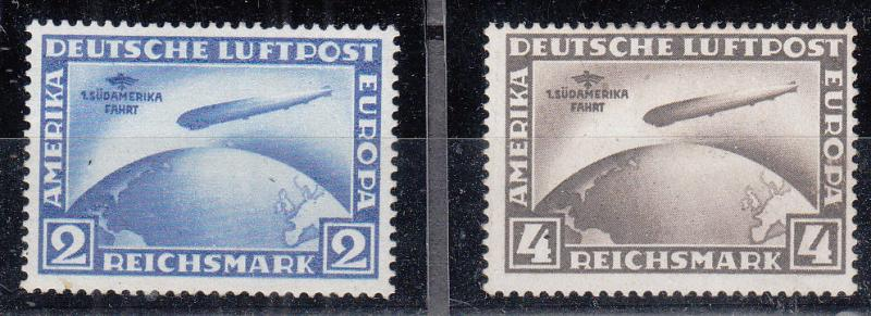 Germany - 1930 South America Flight Mi# 438/439 - MH