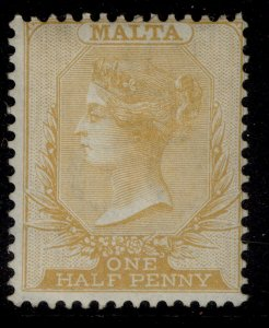 MALTA QV SG18, ½d orange-yellow, M MINT. Cat £40.