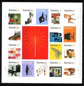PCBstamps  US #4333a Sheet $6.72(16x42c)Charles/Ray Eames, 2008, (5)