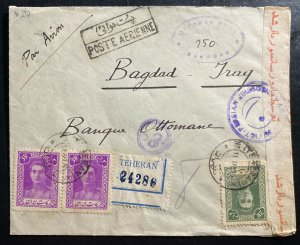 1935 Middle East Perse Commercial Registered Cover to Ottoman Bank Bagdad Iraq