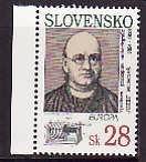 Slovakia-Sc#180 unused NH set-Josef Murgas-Radio Transmitters-1994-