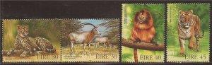 Ireland - 1998 Endangered Animals - 4 Stamp Set - Scott #1153-6