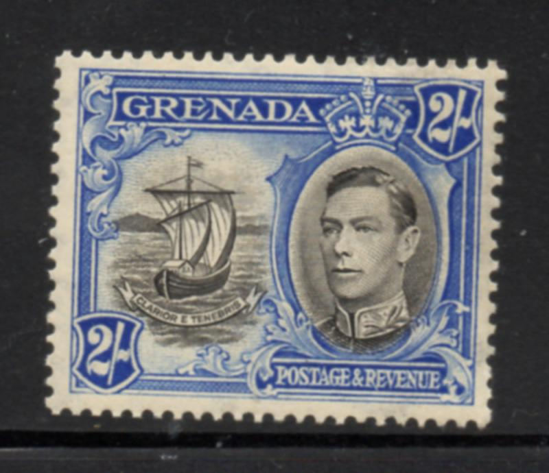 Grenada Sc 140a 1941 2/ G VI & Ship stamp mint
