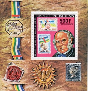 Central African 1978  Sc#C205 Sir Rowland Hill/Stamps on Stamps S/S Perf.MNH