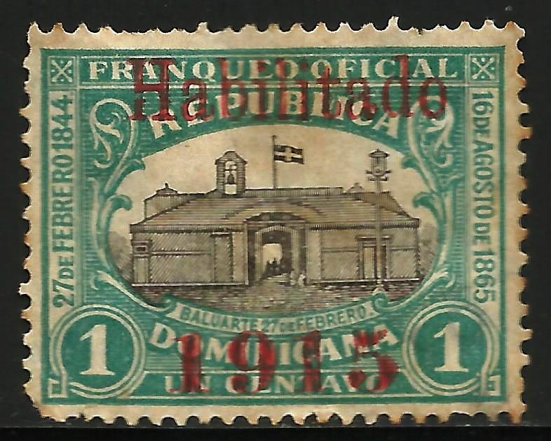 Dominican Republic 1915 Scott# 195 Used (corner)