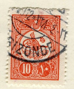 TURKEY; 1908 early classic issue fine used 10Pi. value Postmark