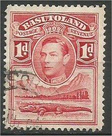 BASUTOLAND, 1938, used 1p  George VI  Scott 19
