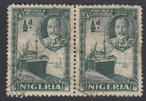 NIGERIA, Scott 38, used pair