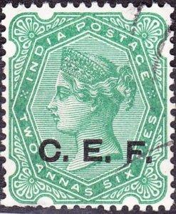 INDIA ABROAD C.E.F 1900 QV 2a6p Green SGC5 Used