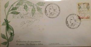 A) 1985, BRAZIL, POET, FDC, CENTENARY OF THE BIRTH OF THE POET ANTONIO FRANCISCO
