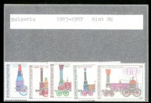 BULGARIA Sc#2983-2987 Complete MINT NEVER HINGED Set