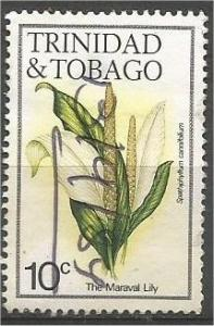 TRINIDAD AND TOBAGO, 1983, used 10c, Flowers, Scott 393