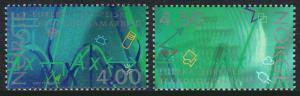 Norvegia 1065-1066, Mnh. Ricerca in Norway. Formulas, Microchip, Vetro Fiasche,