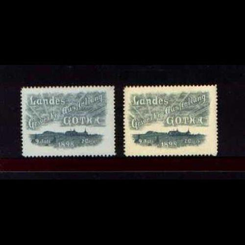 Germany 1898 Gotha Expo Poster Stamps