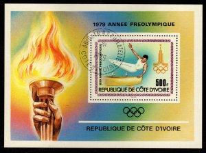 Ivory Coast - Cancelled Souvenir Sheet Scott #527 (Olympics: Gymnastics)