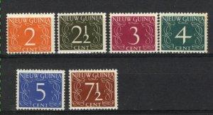 Netherlands New Guinea #2-7   Mint 1950-52  PD