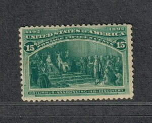 US Sc#238 M/NH/F-VF, Small Corner Crease, Cv. $600