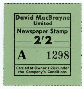 (I.B) Cinderella Collection : David MacBrayne Motor Services - Newspapers 2/2d