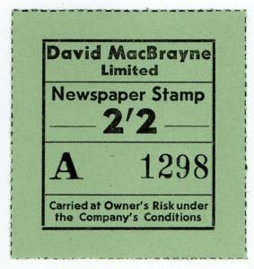 (I.B) Cinderella Collection : David MacBrayne Motor Services - Newspapers 2/2d
