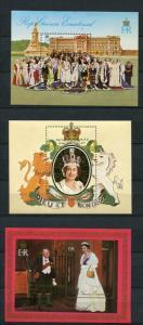 Ecuatorial Guinea 1978 (3)Souvenir Sheet Gold Foil  MNH Queen Elizabeth II Si...