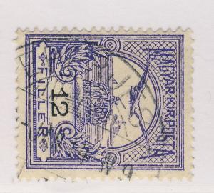 HUNGARY ca.1910 EPERJES CDS ON 12fi VIOLET Wmk.6 MiNr.97Y