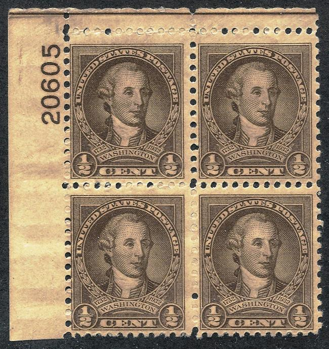 US.  Scott 704.  MNH PB/4. (Item H004)