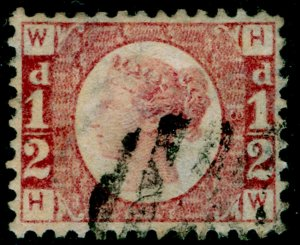 SG48, ½d rose-red plate 3, FINE USED. Cat £55. HW