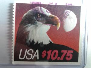 SCOTT # 2122 USED EAGLE AND HALF MOON $ 10.75 BOOKLET PANE