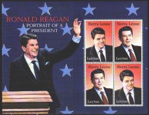 Sierra Leone. 2002. Small sheet 4332-33. Reagan, US President. MNH.