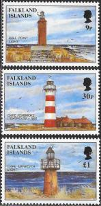 Falkland Islands 676-678 - Lighthouses