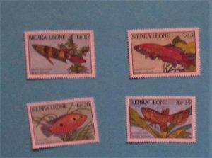 Sierra Leone - 959 - 62, MNH Set. Fish. SCV - 3.00