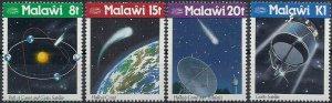 1986 Malawi Halley`s Comet, Space, Satellite, compl. set VF/MNH, CAT 8$