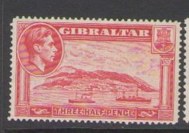 Gibraltar Sc 109 1938 1 1/2d  G VI stamp mint