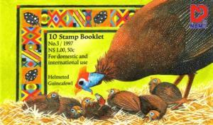 Namibia - 1997 Guineafowl Booklet (Corrected) MNH** SG SB7