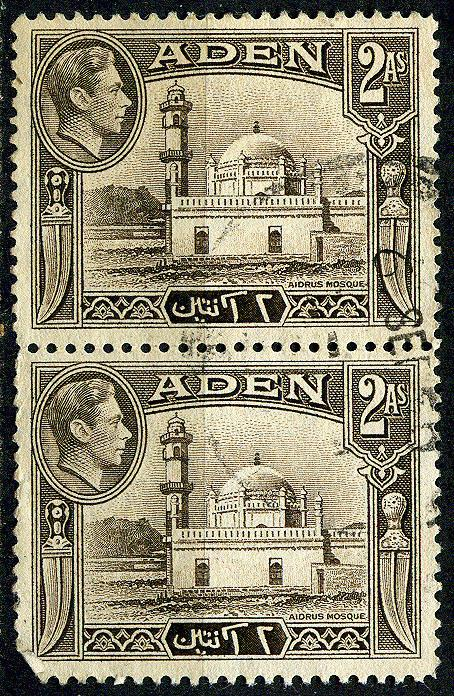 Aden - Sc. #20 - 1946 - Used Pair - '13 TCV $0.50