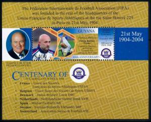 [78908] Guyana 2004 Football Soccer Famous Players Fabien Barthez Sheet MNH