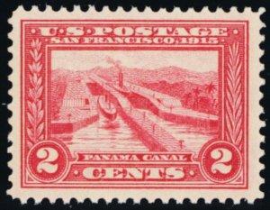 398, Mint NH 2¢ XF Panama Canal - GEM - Stuart Katz