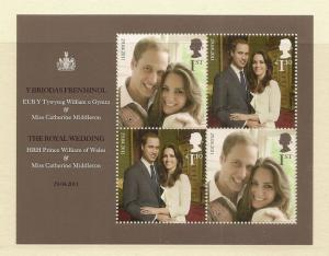 GB 2011 William Royal Wedding  MS3180 UM