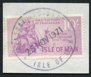 Isle of Man 10/- Purple QEII Pictorial Revenues CDS On Piece