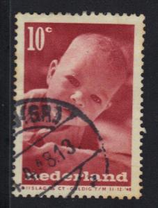 Netherlands 1947  used   Child welfare  10 +5 ct  #
